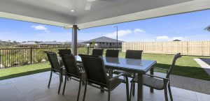 alfresco area blue water homes display home central springs