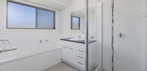 bathroom area blue water homes caboolture display home