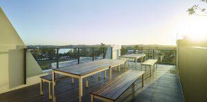 Corde Apartments East brisbane rooftop