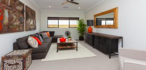 living room gj gardener display home pacific cove