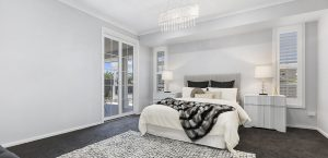 spacious bedroom abbott builders display home pacific harbour bribie island