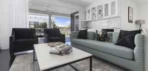lounge room abbott builders display home pacific harbour bribie island