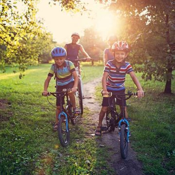 Meadows at Plainland 1 Kids on Bike
